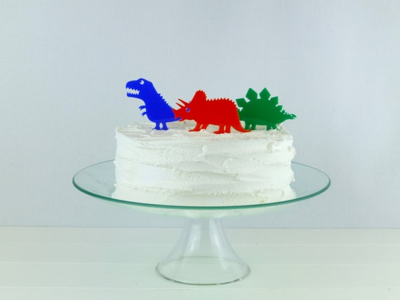 Dinosaur Cake Decorations Toppers : Dinosaur Cupcake or Cake Topper Stegosaurus by MissSarahCake