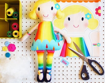 Doll craft kit make your own DIY personalised rag doll