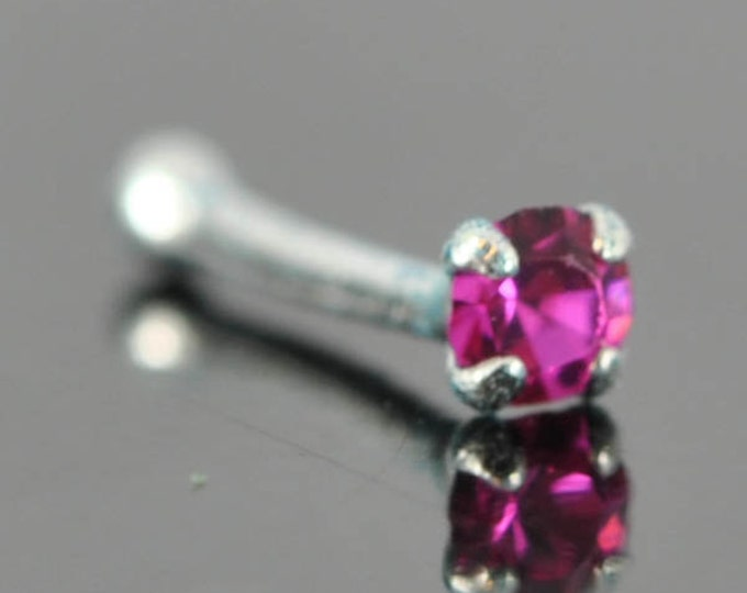 Nose Ring, crystal nose ring, crystal, sterling silver, nose stud, nose piercing, nose jewelry, body jewelry, ball end