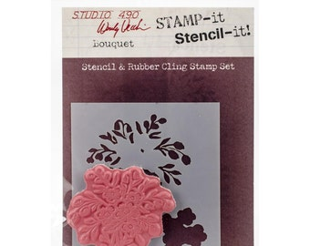 Wendy Vecchi Studio 490 Stamp It Stencil It - Bouquet
