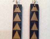 Ohe Kāpala Niho Manō (Shark Teeth) Design Bamboo Earrings