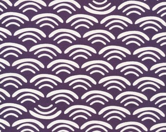 Cloud9 Organic Fabrics - Koi Canvas - Smile&Wave Plum 1/2 YD