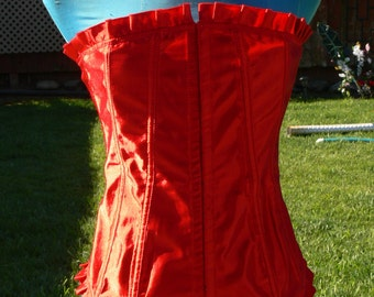 red boned corset size 38 bust