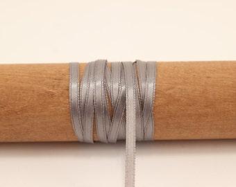 Grey Satin Ribbon - 100 Yards - 1/8 inch - Invitation Making, Wedding, Shower, Party Favors