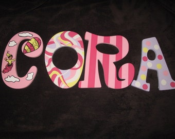 Feminine Oh, The Places You'll Go Inspired Hand Painted Letters ***MESSAGE BEFORE ORDERING***