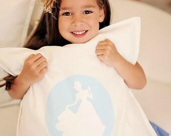 Cinderella Silhouette Pillow Cover