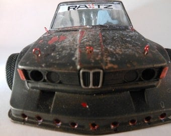 Scale Model Rat Rod BMW Car in Black by Classicwrecks