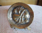 Vintage Brass Erotic Ashtray/Pin Tray