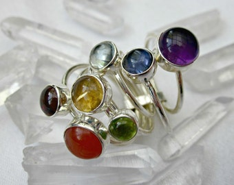 chakra stack ring sterling silver gorgeous gems
