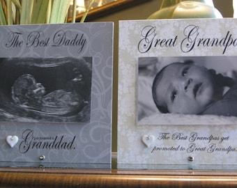 Great Grandpa gift  (select any GRANDFATHER name), Great Grandpa picture frame,  4 x 6 photo, Grandpa frame, Grandpa Gift, Grandfather frame