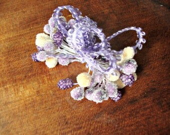 Frosted Lilac Millinery Stamen Bundle