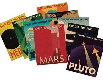 Retro Planetary Travel Poster Collection