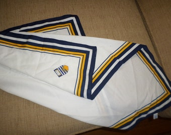 Square Scarf/Preppy/NAUCTICAL COAT Of ARMS/White/Gold/Navy