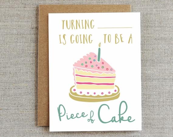 Happy Birthday Card Cute Birthday Card Birthday Cake Card – Happy Birthday Card Cute