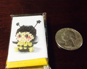 3D origami bumblebee MINI 1/128 size kit