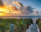Smathers Beach Sunrise - Key West, FL - Available Sizes (5x7) (8x12) (12x18) (16x24) (20x30) (24x36)