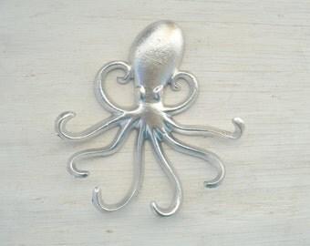 Towel hooks octopus etsy - Octopus coat hook ...