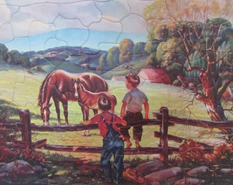Walzer Boys on Farm Puzzle