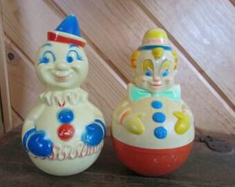 Clown Wobble Toy Set of 2