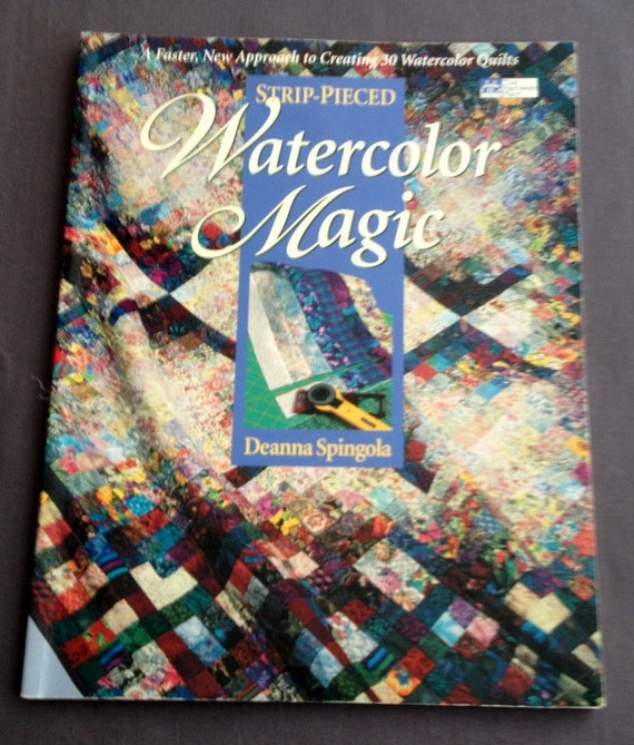 Book Cover Watercolor Quilt : Book of watercolor quilts pattern