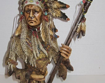 Vintage Indian Chief Figurine