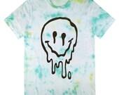 Sick & Melted sMiLeY fAcE Tie Dye T-Shirt UNISEX sizes S, M, L, XL