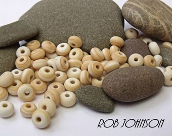 Africa Etched, Lampwork Spacer Beads, SRA, UK