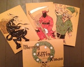 Set of 4 (un)Holiday Cards