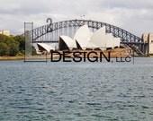 Canvas Photography - Sydney Harbor Bridge and Sydney Opera House, Original image, Gallery wrapped.