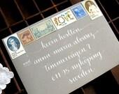 CALLIGRAPHY ENVELOPE ADDRESSING in Bennet Style - Wedding Envelopes