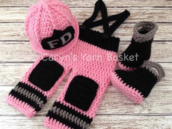 Crochet Patterns For Baby Frocks : ORIGINAL DESIGN Baby Girl Firefighter Fireman by ...