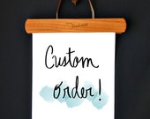 CUSTOM ORDER | Hand-lettered Print | For Download