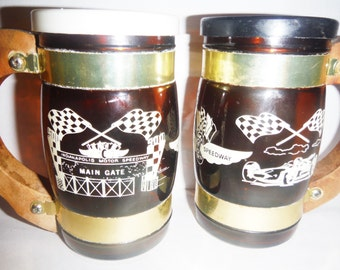 Vintage Indianapolis Speedway souvenir large salt and pepper shakers