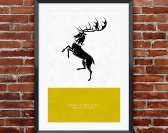"Game of Thrones - House Baratheon print 11X17"""