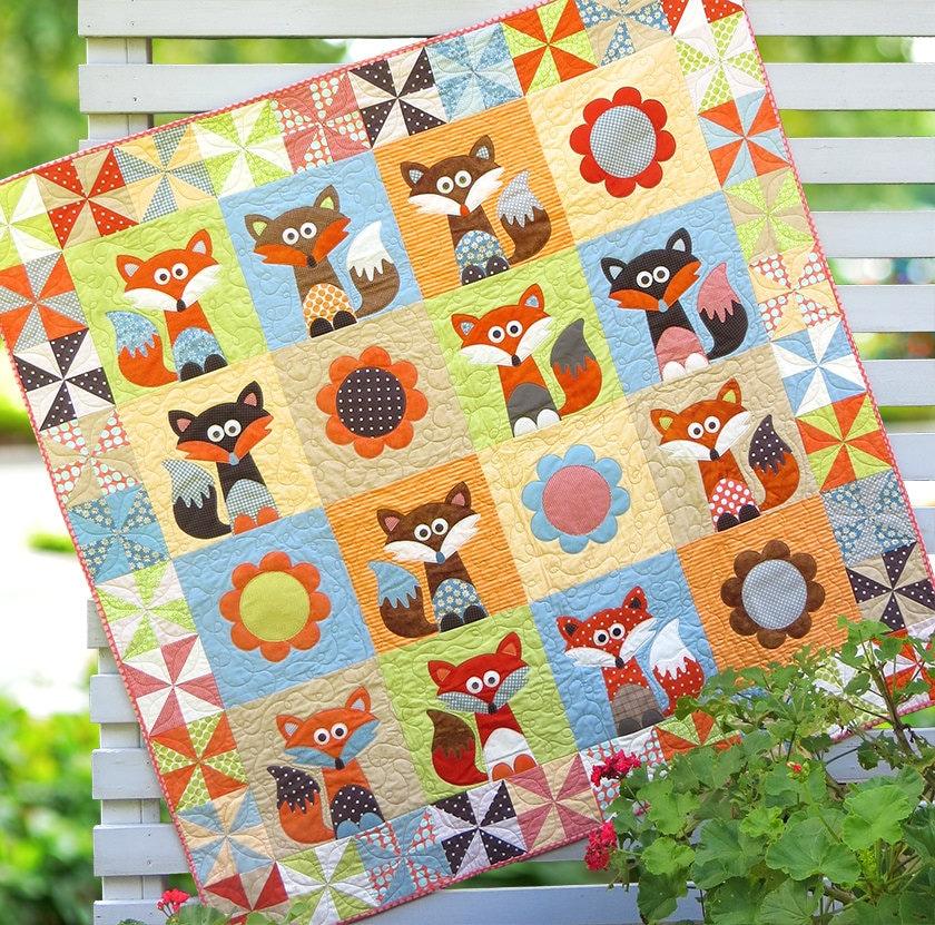 Mr Fox s Garden PDF Quilt Pattern by TheRedBootQuiltCo on Etsy