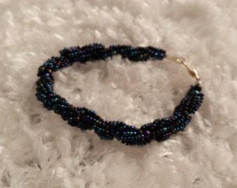 Black irredescent bracelet