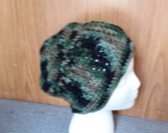 Camoflage crochet hat