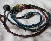 Colorful ceramic and glass bead handcrafted necklace vegan