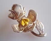Nuvo Silver Rose & Enamel Bee Charm Opens
