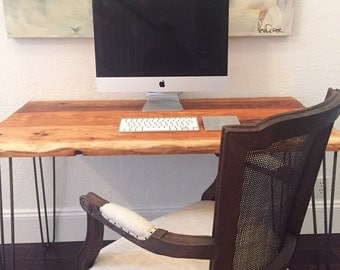 SALE! Reclaimed Wood Desk - rustic writing desk or bureau Satin Finish