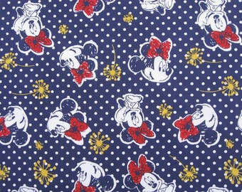 2076 - 1 yard Cotton fabric  - Minnie and Dot