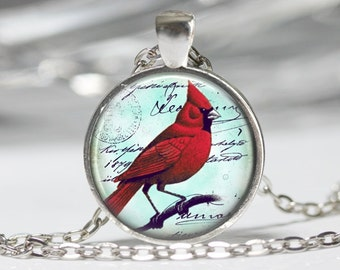 Cardinal Jewelry Cardinal Necklace Cardinal Red Bird Necklace