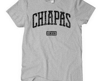Women's Chiapas Mexico T-shirt - S M L XL 2x - Ladies Chiapas Tee - Mexican - 4 Colors
