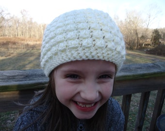 Crochet Bubble Hat, Child Size