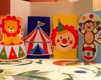 Cute Circus Theme Goody Bags