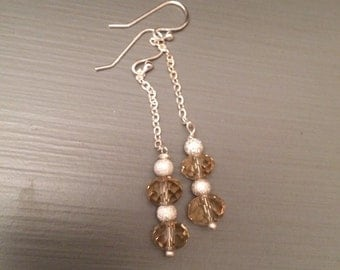 Crystal and sparkle earrings