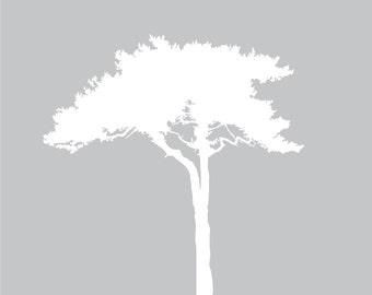 Wall decals - Tree decal -- Nursery wall tree decal - vinyl tree decal -- safari Tree decal Africa tree