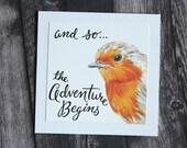 The Adventure Begins - English Robin Card