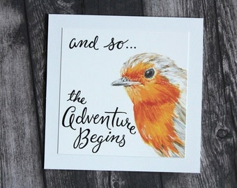 The Adventure Begins - English Robin Card