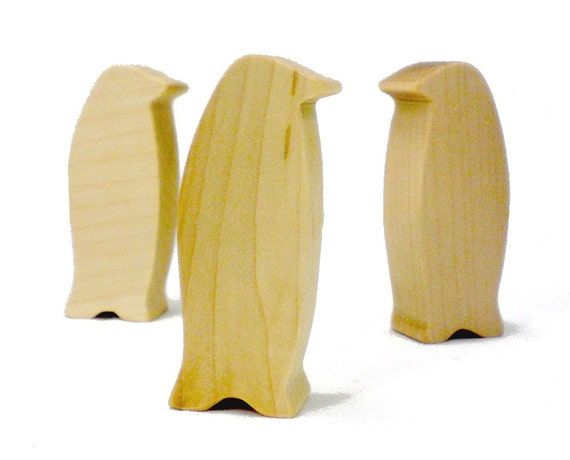 Wood Bird Toys : Wooden penguin toy bird